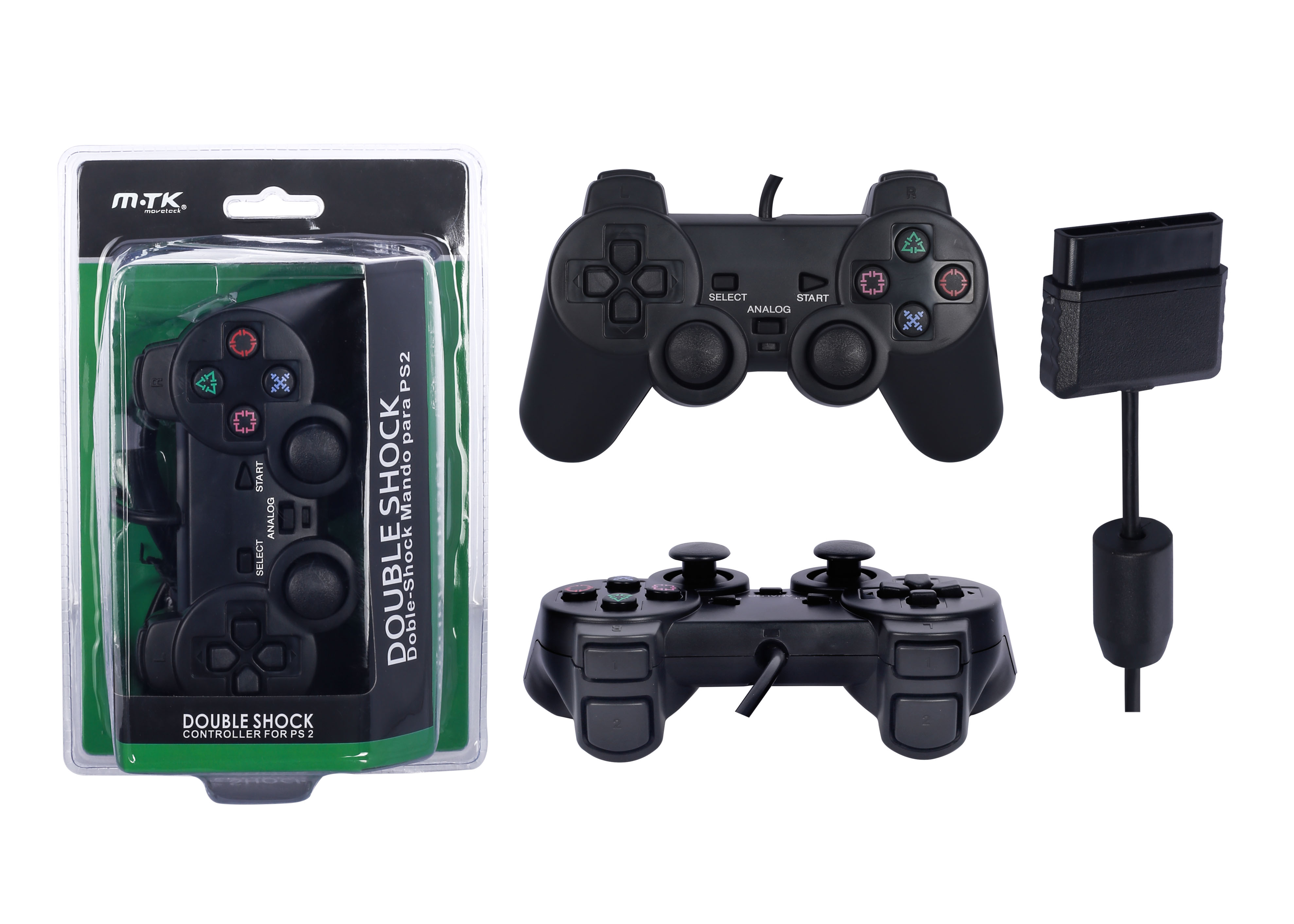 Dual Shock 2 Mando Para Playstation 2 Compatible Negro