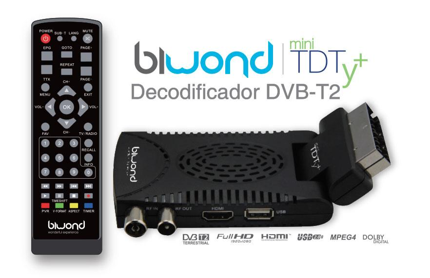 Mini TDT HD con Scart DVB-T2