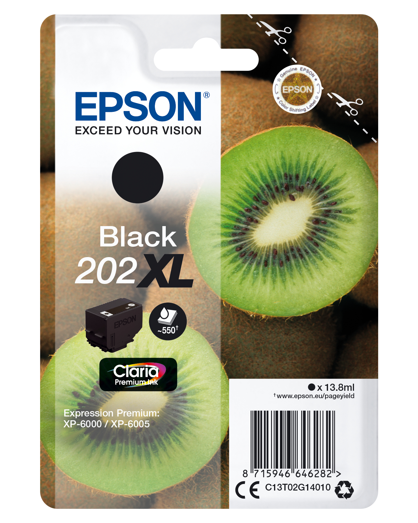 Epson 202 XL Negro Cartucho Original
