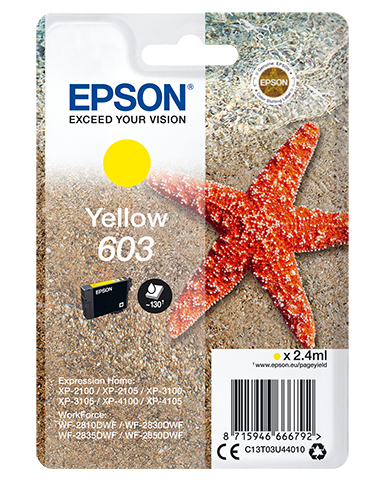 Epson 603 Amarillo Cartucho Original